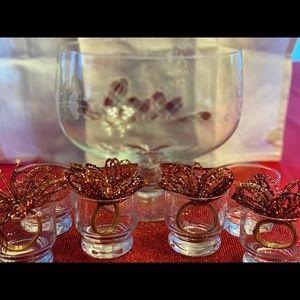 Princess House Dining - Princess house crystal punch bowl